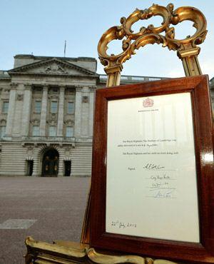 Royal Birth Announcement