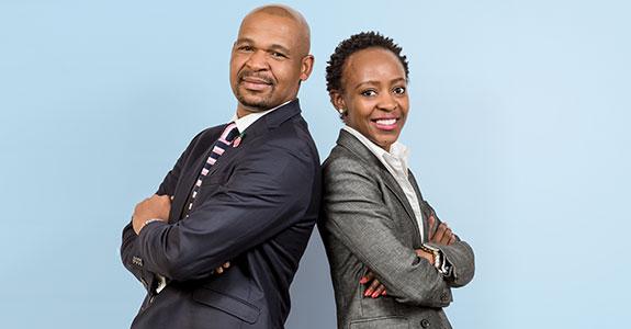 Tshego Sefolo (founder and CEO) and Londeka Shezi