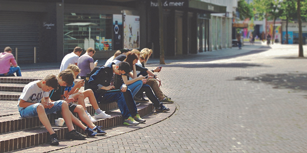 Millennials on phones